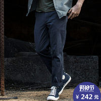 AK男装 新款休闲裤男 军事复古全棉直筒军袋裤